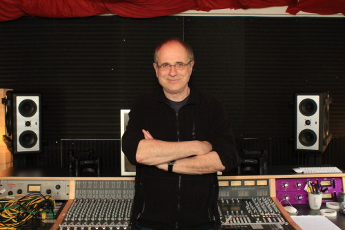 Pictured in his Nashville studio is producer Bob Ezrin with his Barefoot Sound MM27 monitors.